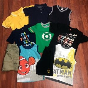 Other - Boys size 5/5T Lot Shirt Shorts Tank Top Polos